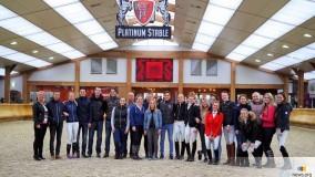 Afscheid Britt Oomen met team hengstenshow 2017