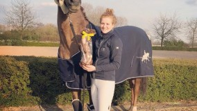 Cynthia Eggenkamp winns today two times Z-class dressage with Domino SB (v. Vivaldi). Top job, congrats!