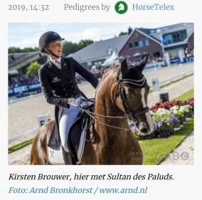Kirsten Brouwer voor Portugal naar WK jonge dressuurpaarden