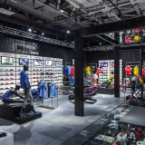 Interieur van een bekende sportwinkel