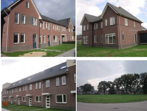 Diverse bouwkavels en gerealiseerde woningen in de wijk Zuidplan Wierden