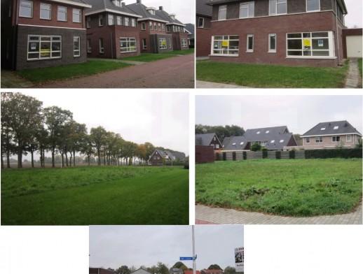 Diverse bouwkavels en gerealiseerde woningen in de wijk Het Ravelijn Balkbrug