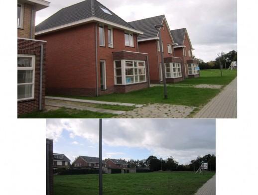 Diverse bouwkavels en gerealiseerde woningen in de wijk Bornsche Maten Borne