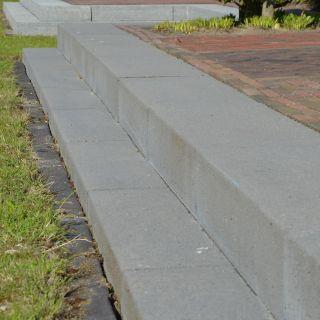 Traptrede beton grijs/antraciet 129
