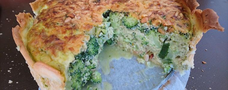 Broccoli-courgettetaart